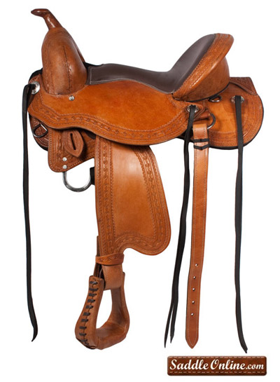 western horse treeless saddle