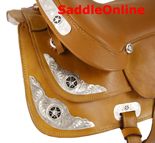 New 16 17 18 Tan Western Show Saddle
